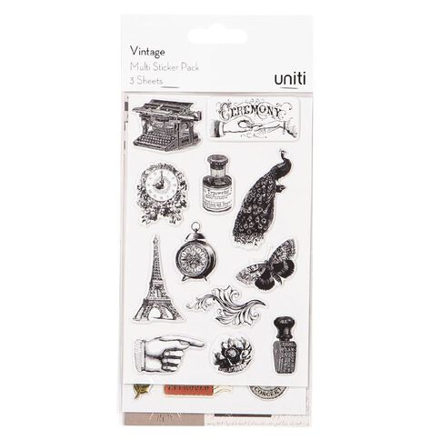 Uniti Vintage Multi-pack Stickers
