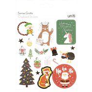 Uniti Santas Grotto Chipboard Stickers