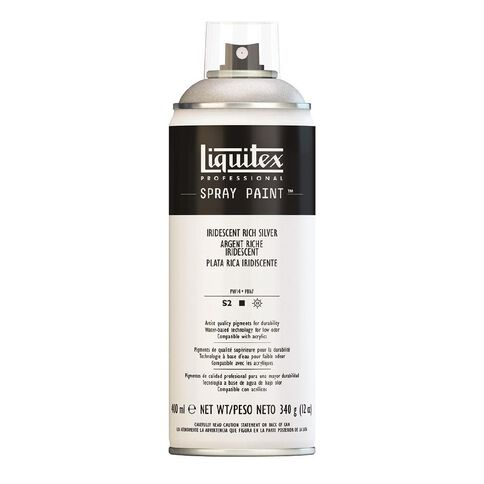 Liquitex Spray 400ml Iridesc Rich Silver Silver