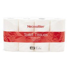Necessities Brand Toilet Tissue White 8s