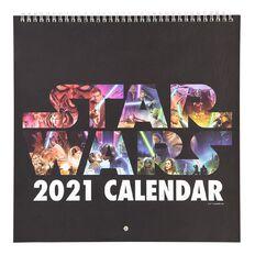 Star Wars 2021 Calendar Star Wars I-vi 305mm X 305mm