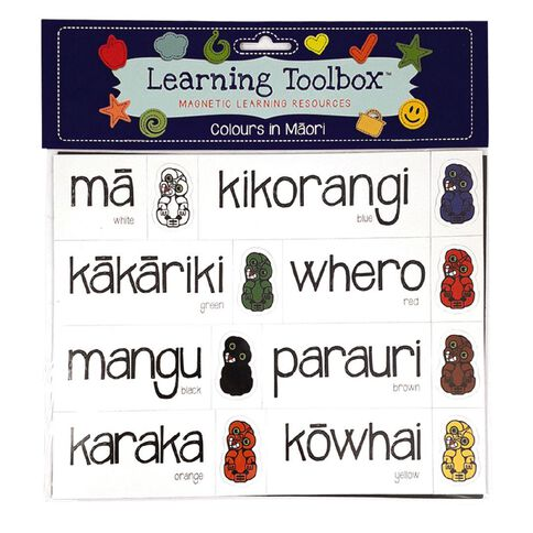 Learning Tool Box Magnetic NZ Maori Colours Assorted 27 Pack