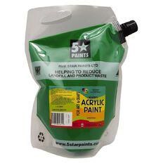 Fivestar Acrylic Paint Green 1.5 litre Pouch