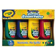 Crayola Washable Finger Paint 4 Pack Multi-Coloured