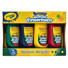 Crayola Washable Finger Paint 4 Pack Multi-Colored Multi-Coloured