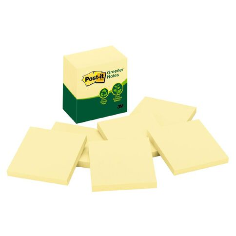 Post-It Greener Notes 5416-Rp-Y 76mm x 76mm 6 Pack Yellow