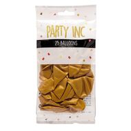 Party Inc Balloons Metallic Gold 25cm 25 Pack