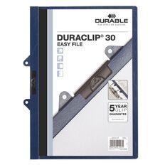 Durable Clip Easy File Blue 30 Capacity Blue