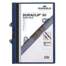 Durable Clip Easy File Blue 30 Capacity Blue