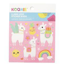 Kookie Mini Sticker Book 12 Sheets Llama Love