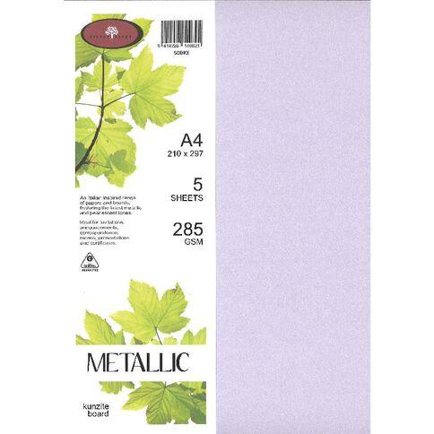 Direct Paper Metallic Board 285gsm 5 Pack Kunzite A4