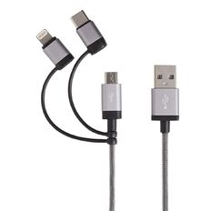 Tech.Inc Micro USB/Lightning/USB-C Cable 1m