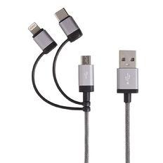 Tech.Inc Micro USB/Lightning/USB-C Cable 1m