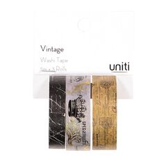 Uniti Vintage Washi Tape Foil 3 Pack