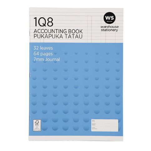 WS Exercise Book 1Q8 Journal Ruled 32 Leaf Blue