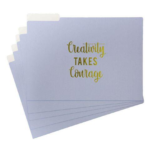 Uniti Creativity Takes Courage Manila Folder 5 Pack