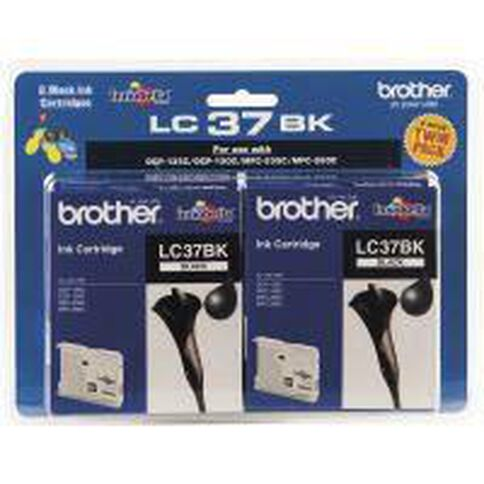 Brother Ink LC37 Black 2 Pack