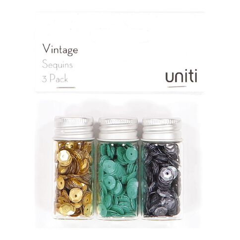 Uniti Vintage Sequin 3 Pack