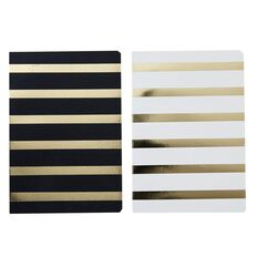 Uniti Black&Gold Notebook 2 Pack A5
