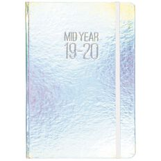 Diary Mid Year 2019/20 Day To Page Metallic Silver A5