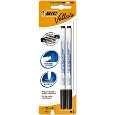 Bic Whiteboard Marker Fine Black 2 Pack