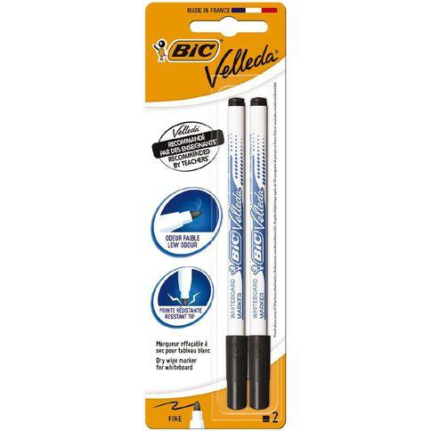 Bic Whiteboard Marker Fine Black 2 Pack