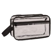 Necessities Brand Toiletry Bag Double Zip Clear Medium