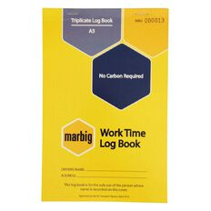 Marbig Worktime Triplicate 50 Leaf Yellow A5