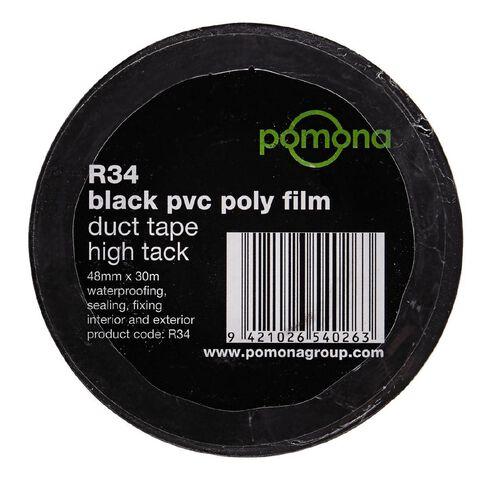 Pomona PVC Duct Tape 48mm x 30m Black