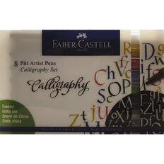 Faber-Castell Pitt Artist Calligraphy Pens 8 Pack