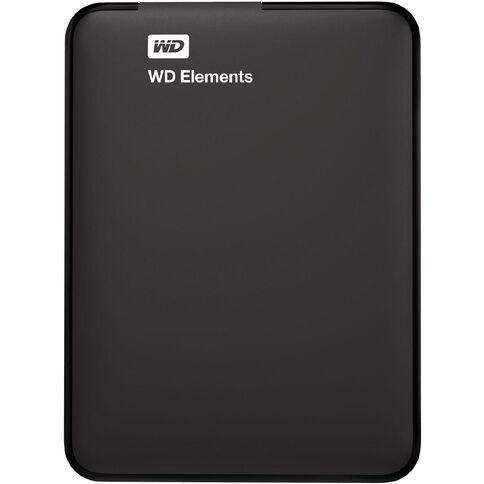 WD Elements Portable 2TB USB 3 Hard Drive Black