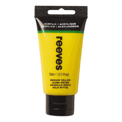 Reeves Fine Acrylic Medium Yellow 120 75ml Yellow 75ml