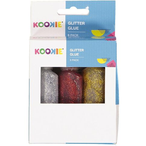 Kookie Glitter Glue 22ml Multi-Coloured 6 Pack