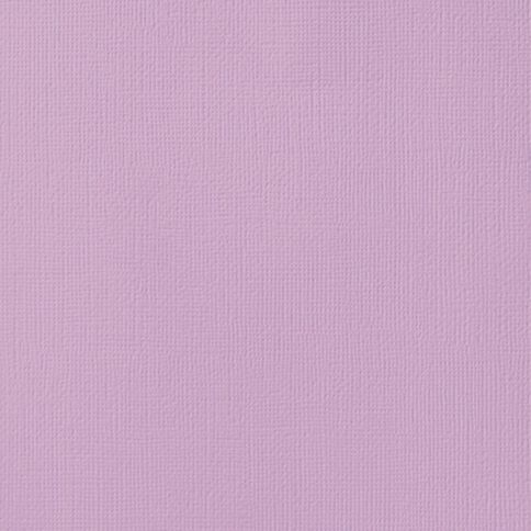 American Crafts Cardstock Textured Lilac Purple 12in x 12in