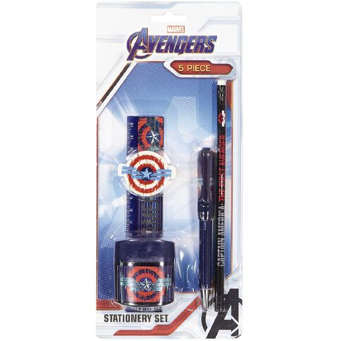 Avengers Captain America Stationery Set 5 Pieces