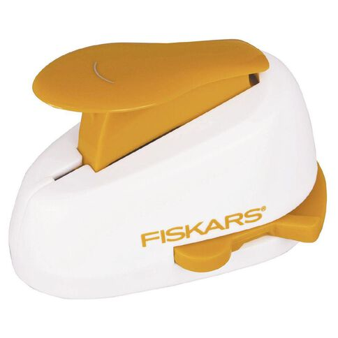 Fiskars Lever Punch 1 Corner Round White