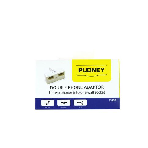 Pudney NZ Telephone Double Adaptor White