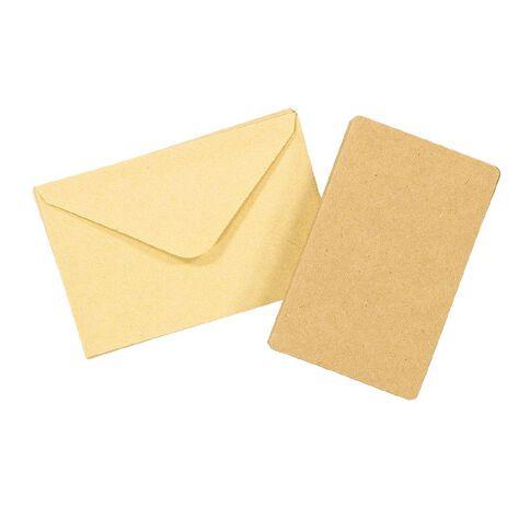 Uniti Cards & Envelopes Mini 8 Pack Kraft