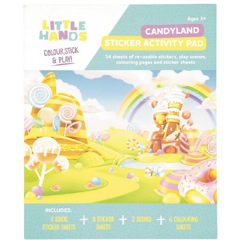 Little Hands Sticker Activity Pad Reusable Assorted