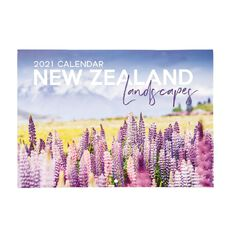 Bright Ideas 2021 Calendar New Zealand Landscapes With Envelope A4