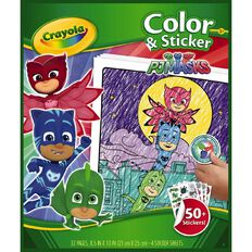 Crayola Colour & Sticker Book PJ Masks