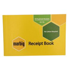 Marbig Receipt Book 34 Duplicate 50 Leaf Yellow