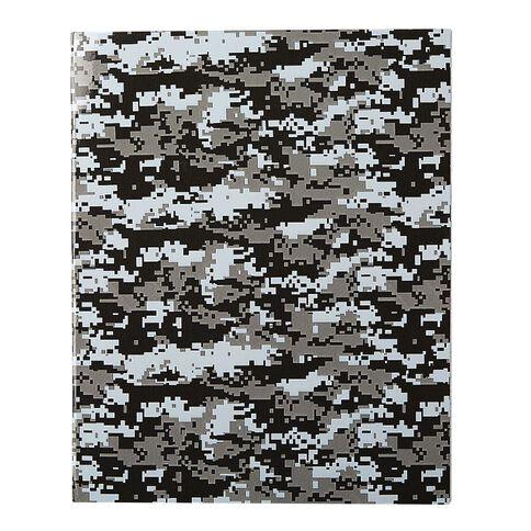 WS Book Cover Camo Grey 45cm x 1m
