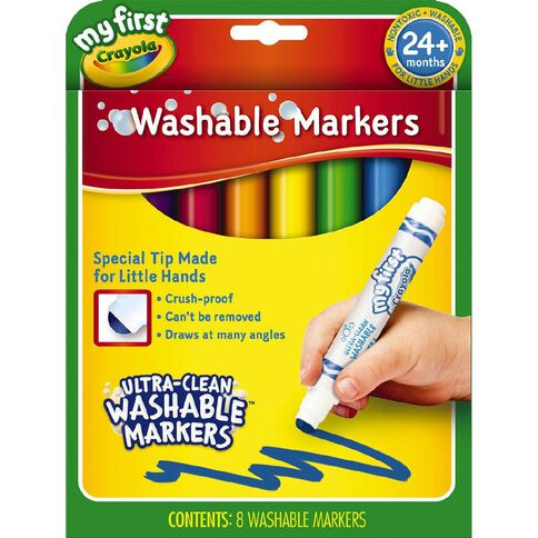 Crayola My First Washable Round Nib Markers 8 Pack 8 Pack