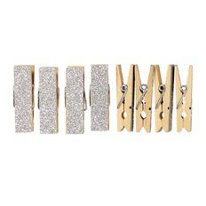 Uniti Pegs Glitter Silver 8 Pack