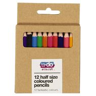U-Do 1/2 Size Colour Pencils 12 Pack