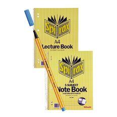 Spirax 5 Subject And Lecture Book + Bonus Stabilo .88 Pen