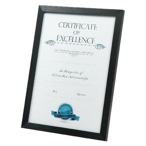 Certificate Frame A4 Brushed Black | Warehouse Stationery, NZ