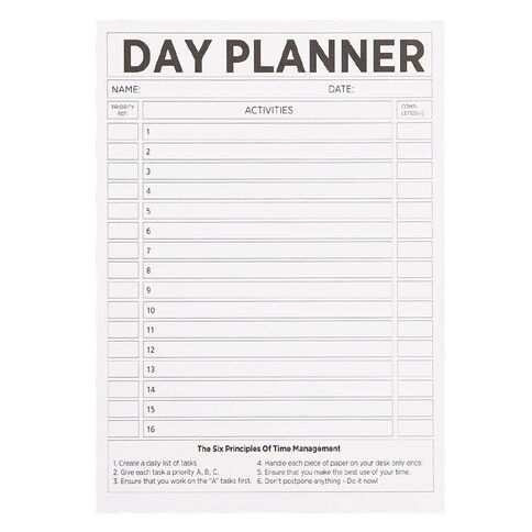 WS Day Planner Pad 50 Sheets A4