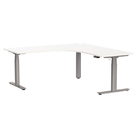 Agile Height Adjustable Electric Workstation 1500 White/Silver